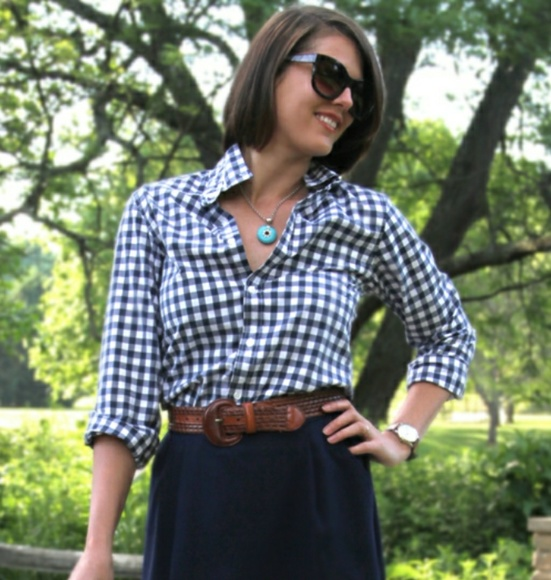 f0cf2c1dd13 J. Crew Tops - Relaxed boy shirt gingham crinkle size m